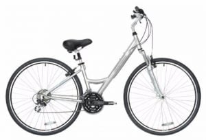 BikeHard LadyCruz Ladys Fit Polished Aluminum Hybrid Bike Review
