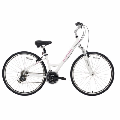 BikeHard LadyCruz Lady's Fit White Hybrid Bike Review