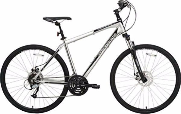 BikeHard Urbanite Disc Polished Gloss Black Hybrid Bike