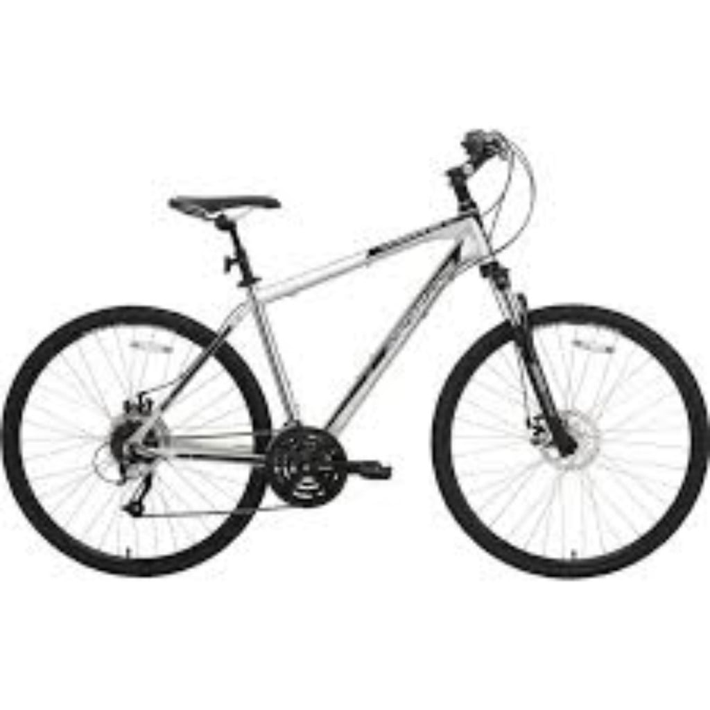 BikeHard Urbanite Polished Hybrid Bike