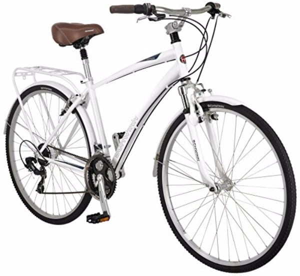"Schwinn Community 700c 18"" White Men's Hybrid Bicycle"