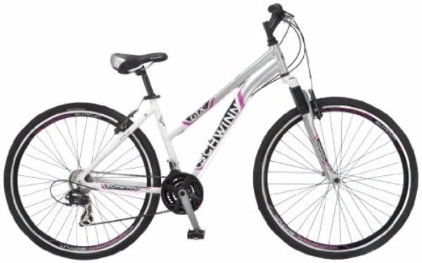 """Schwinn GTX-1 700C White/Silver 16"""" Women's Dual Sports Bicycle"""
