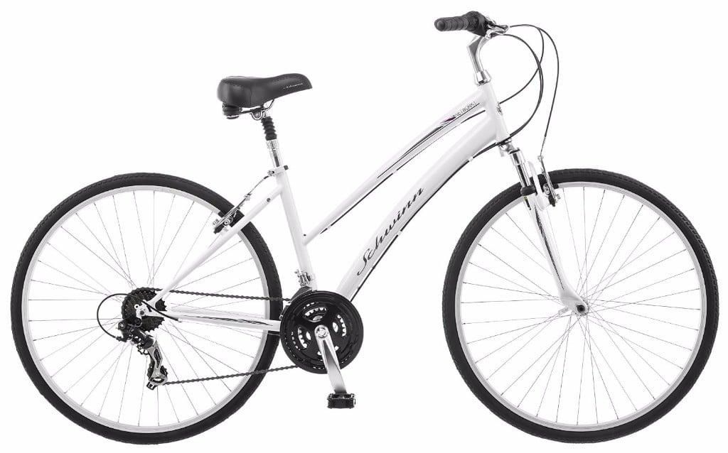 Schwinn Network 1.0 700c Women's 16-Inch White Hybrid Bike